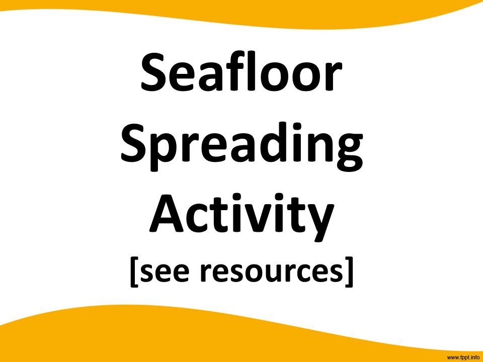 Seafloor Spreading Activity [see resources]